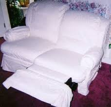 Reclining Sofa Slipcover White Recliner Slipcover Foter