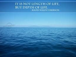 leadership quotes ralph waldo emerson depth of life