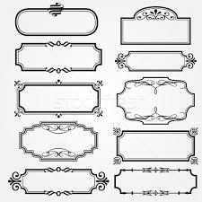 vector frame set ornamental vintage decoration vector illustration