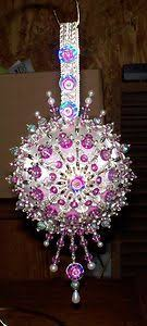 119 best satin balls beaded ornaments images on