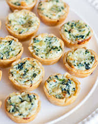 food canapes quiche and ricotta canapes tatyanas everyday food