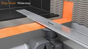 4 Floor Sink by Linear Shower Drain Installation U2013 Easy Drain Waterstop English
