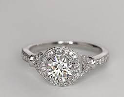 vintage halo engagement rings 0 91 carat lhuillier vintage floral halo