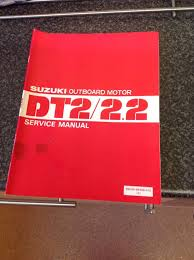 genuine suzuki dt2 2 2 hp outboard service manual in excellent