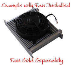 oil cooler with fan oil cooler