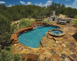fresh backyard designs with pool and outdoor kitchen home