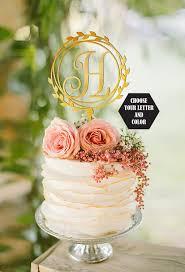h cake topper wedding cake topper letter h cake topper gold cake topper