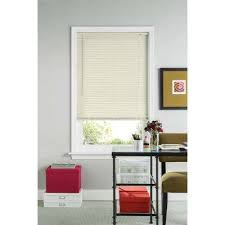 12 Blinds Ivory Vinyl Mini Blinds Mini Blinds The Home Depot