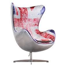 union jack spitfire aj egg chair by arne jacobsen a modern world ltd