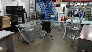 Realspace L Shaped Desk Realspace Outlet Zentra L Shaped Desk 30 H X 76 W X 76 D Silver