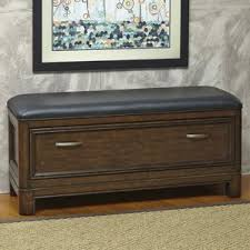 leather storage benches you u0027ll love wayfair