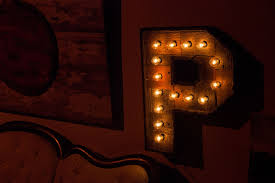 reclaimed wood marquee letters w lights shabby chic salvaged