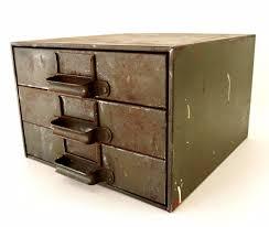 3 Bin Cabinet Vintage Industrial Hardware Cabinet Parts Bin With 3 Drawers C