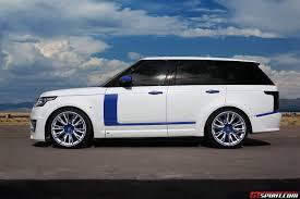 land rover lumma white lumma design range rover vogue clr r with blue accents