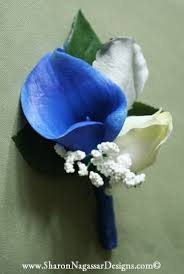 royal blue boutonniere royal blue white silver grey nagassar designs