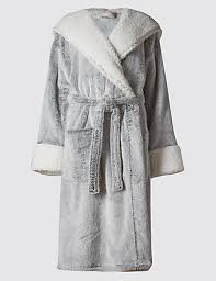 dressing gown luxury hooded shimmer dressing gown m s