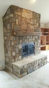 homey stone fireplace ideas with amazing gas fireplace