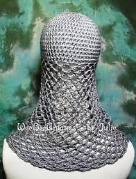 crochet pattern knight helmet free ravelry chainmail coif knight helmet hat pattern by weebee uniques