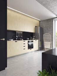 kitchen floor concrete brick accent walls polished floors french