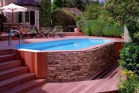 Backyard Above Ground Pool Ideas Above Ground Pool Ideas Dragonswatch Us