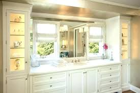 Bathroom Counter Shelves Bathroom Counter Tower Cabinet Vanity With Two Tower Cabinets