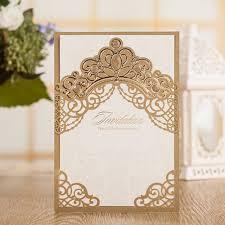 Vintage Wedding Invitation Card Online Buy Wholesale Vintage Gold Wedding Invitations From China