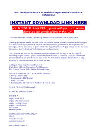 2004 2006 hyundai sonata nf workshop repair service manual best downl u2026