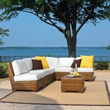 panama jack st barths 7 piece wicker sectional set wicker com