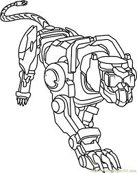 blue lion coloring page free voltron legendary defender
