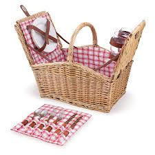 picnic time piccadilly 16 inch double lid picnic basket with