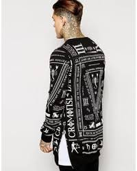 criminal damage longline sweatshirt with all over print where to