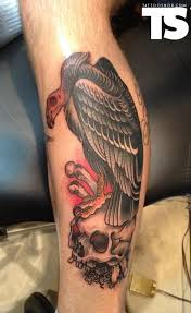 simple vulture tattoo outline skull and vulture tattoo design