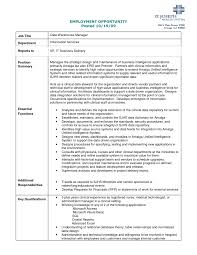 Warehouse Resume Template Printable Employment Opportunity And Data Warehouse Manager For