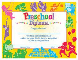 preschool diploma dominie preschool diploma award certificates