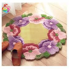 Buy Kids Rug by Purple Flower Rug Sheilahight Decorations