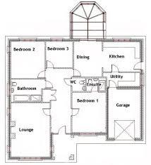 Bungalo Floor Plan Floor Plan Of Three Bedroom Home Design Ideas