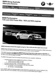 bmw performance 135i and 335i power kits n54 and n55 engines