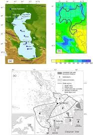 Pollen Map A Caspian Sea And Volga Delta Location Map Showing Main