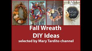 fall wreath diy ideas u2013 fall decorating ideas 2017 youtube