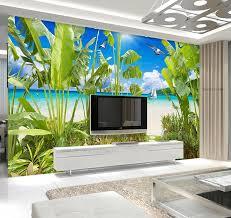 online get cheap tropical landscapes wallpaper aliexpress com custom 3d wallpaper tropical rainforest coastal landscape decorative painting background wall photo 3d wallpaper china