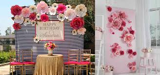 wedding backdrop of flowers paper flower backdrop partially filled with flowers decoration