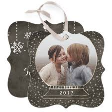 magical snowfall personalized metal ornaments shutterfly