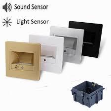 night light sound led stair light sound sensor light sensor night l recessed in
