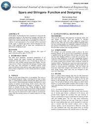 spars and stringers function and designing pdf spar