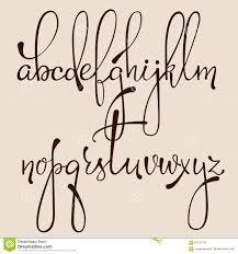 calligraphy cursive font stock illustration image 62412130