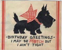 vintage birthday card scottie scottish terrier scottie dogs
