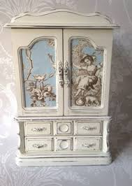 Shabby Chic Jewelry Armoire by Very Large Vintage Jewellery Box Armoire Painted In Old White