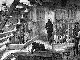 1860 prison hulk in bermuda van deeman u0027s land pinterest hulk