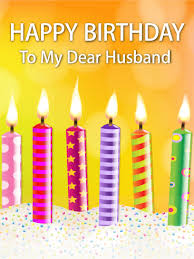 card for husband candle happy birthday card for husband birthday greeting