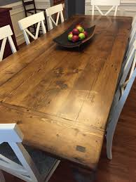 Dining Room Tables With Built In Leaves Reclaimed Wood Dining Table With A 2